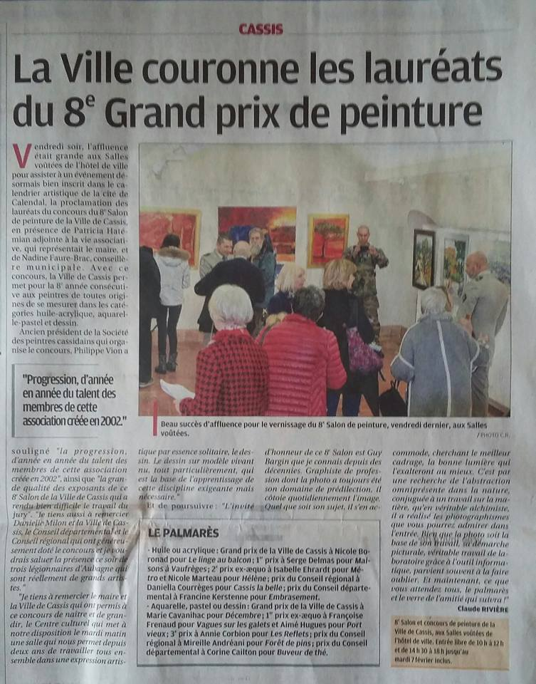 Photo journal prix cassis 1
